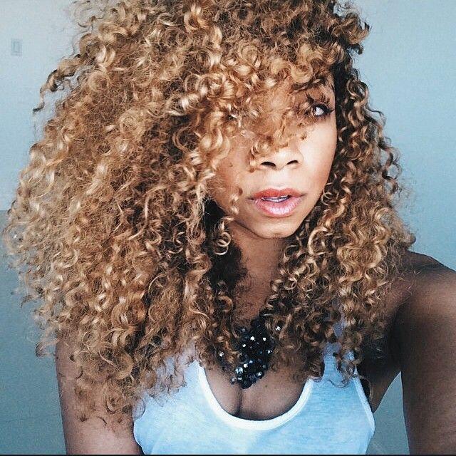Golden tight curls