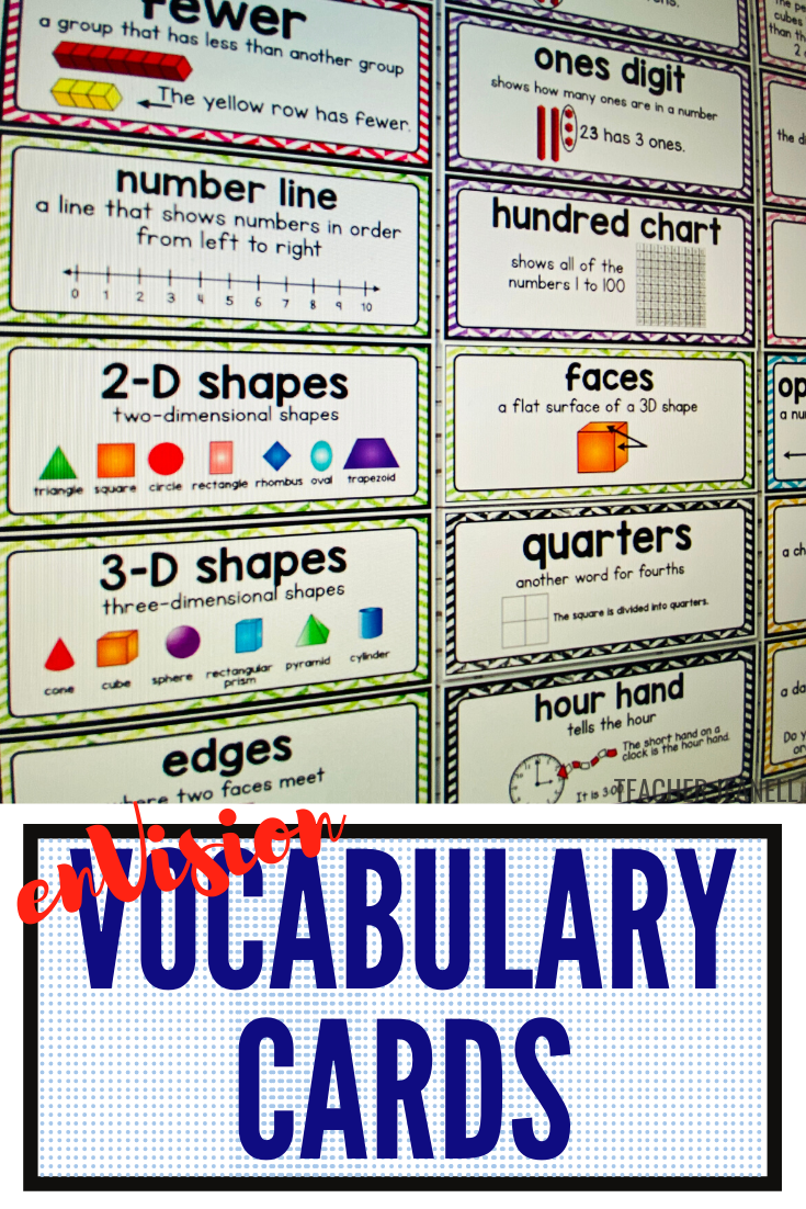 Math Vocabulary Cards 2 0 Envision Math First Grade Topics 1 16 Supplement Envision Math Math Vocabulary Math Vocabulary Words [ 1102 x 735 Pixel ]