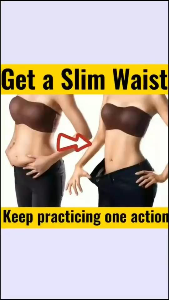 GET A SLIM WAIST AT HOME WITHOUT HEAVY WORKOUT AND GYM