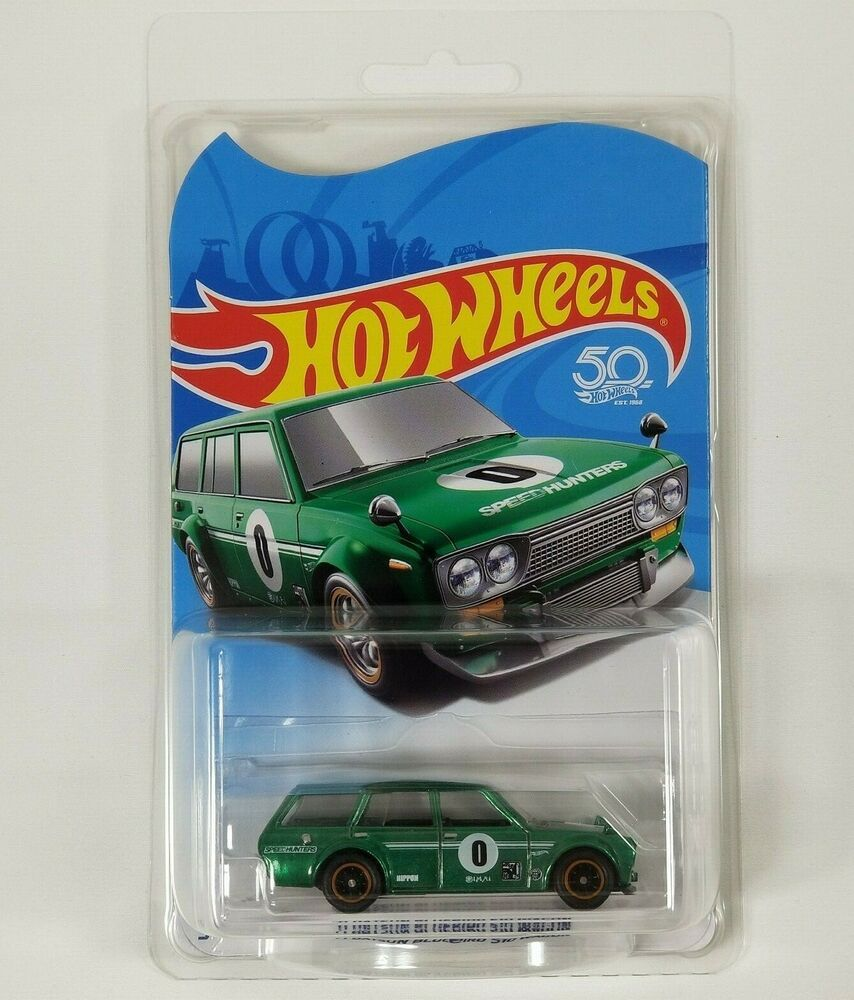 Hot Wheels 71 Datsun Bluebird 510 Green Wagon Legends Tour 50th