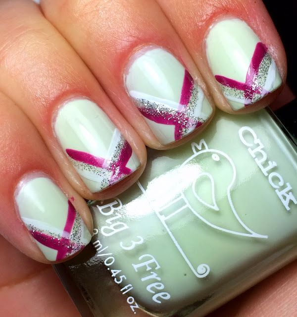 Nails by an OPI Addict: Striped Tips!   Hair dids and nail art ...
