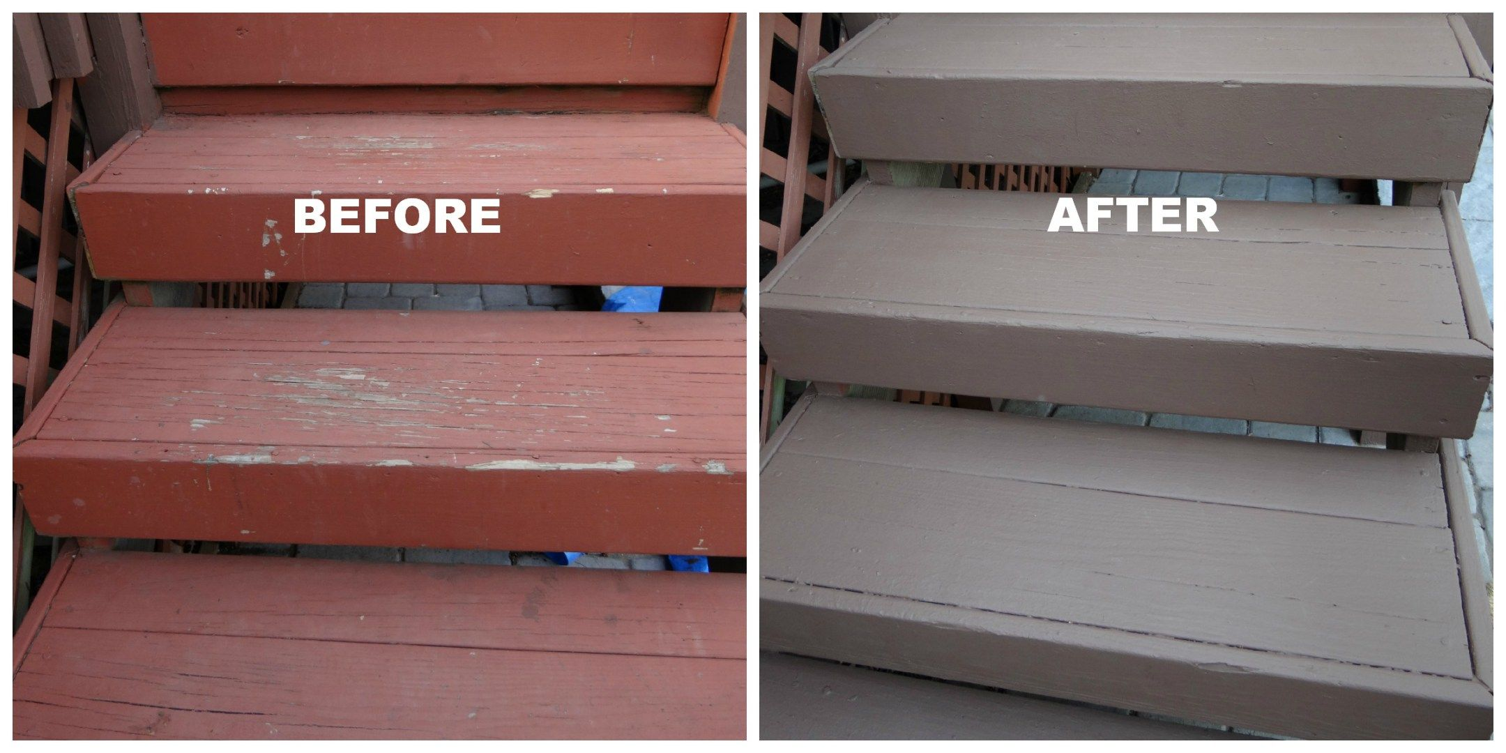how to repaint a deck a different color