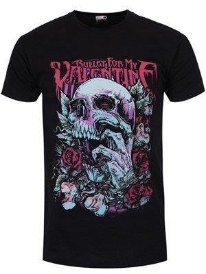 Vintage Bullet For My Valentine t shirt emo gothic music punk Medium Size LSbxtfy