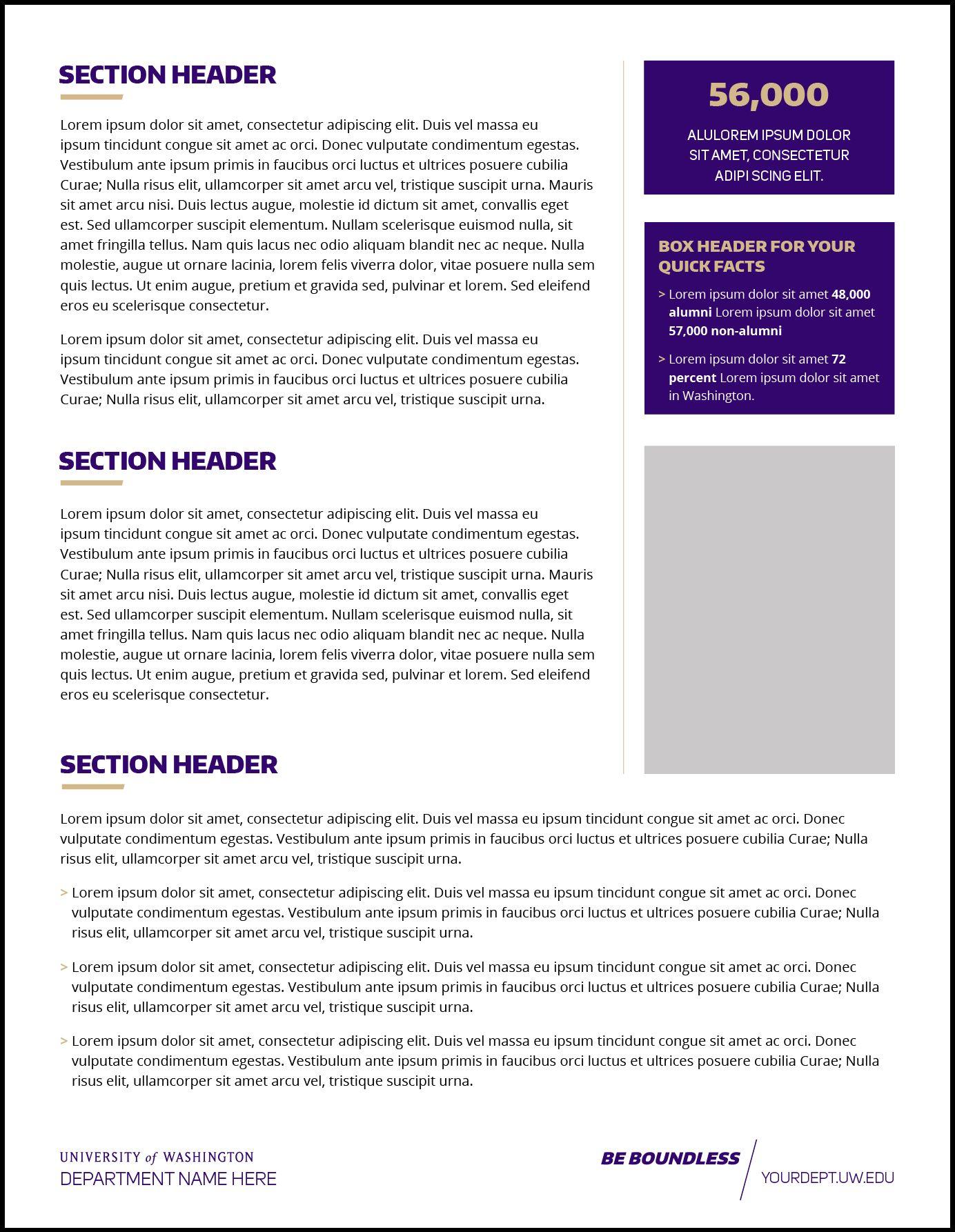 The Interesting Fact Sheet Uw Brand Throughout Fact Sheet Template Word Digital Photography Below Is Other Parts Word Template Fact Sheet Business Template