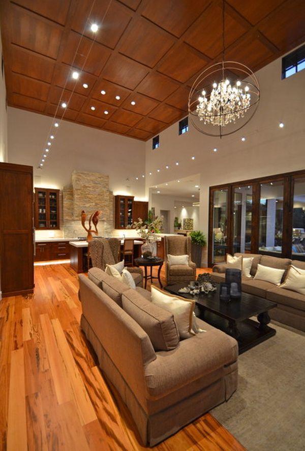 Modern Living High Ceiling Home Decorating Trends Homedit