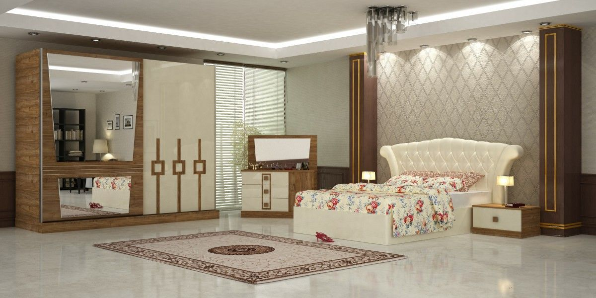 Bedrooms Furniture Design Sera Bedroom Furniture Sets Whitewalnut 1Turkeysupplier