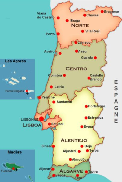 Portugal 2012 Voyage Portugal Carte Portugal Et Portugal Tourisme