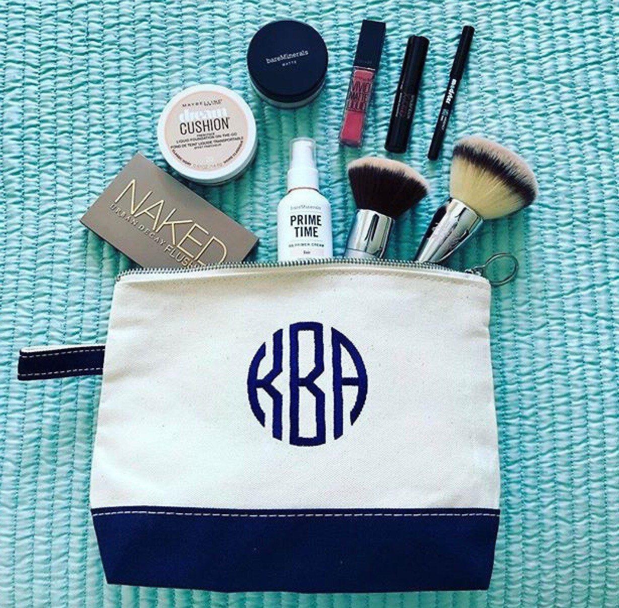 Monogram Cosmetic Bag Canvas Cosmetic Bag Small Makeup