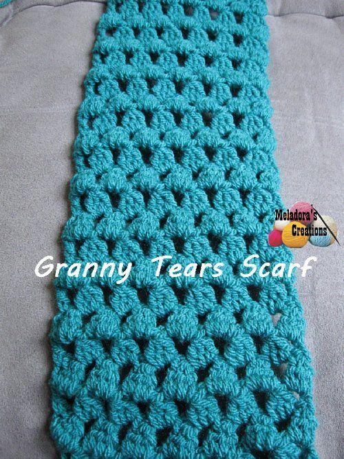 Granny Tears Scarf - Free Crochet Pattern | Crochet - Scarfs ...