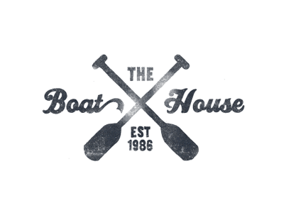 """The Boat House"" logo by Jonathan Schubert"