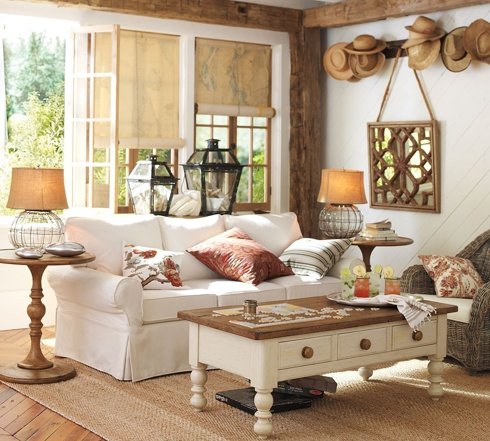 Image result for pottery barn style living room pinterest