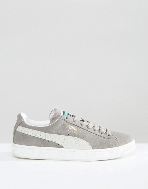 5d902b752674 Puma Classic Suede Basket Sneakers In Gray