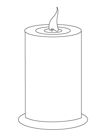 Candle Coloring Sheet Colorful Candles Candle Template Free