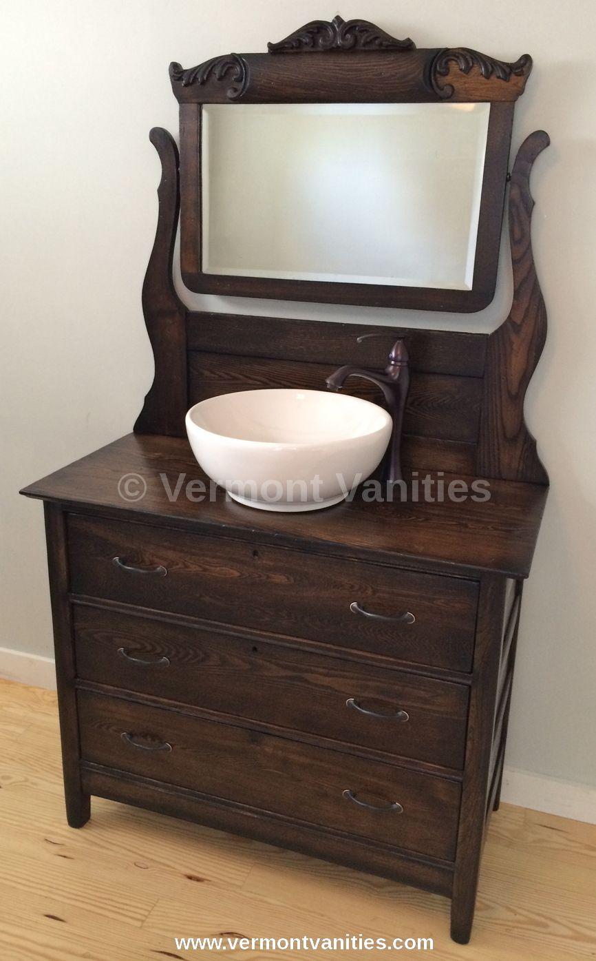 Vintage yet classic dresser mirror combo vanity we - Bathroom vanity and mirror combo ...