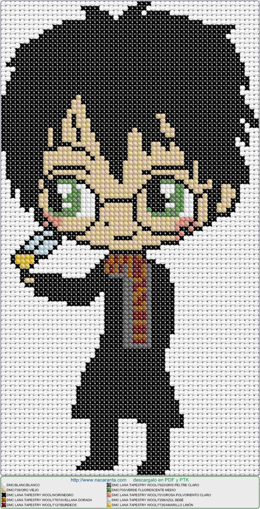 harry potter EN PUNTO DE CRUZ, cross stitch pattern   embroidery ...