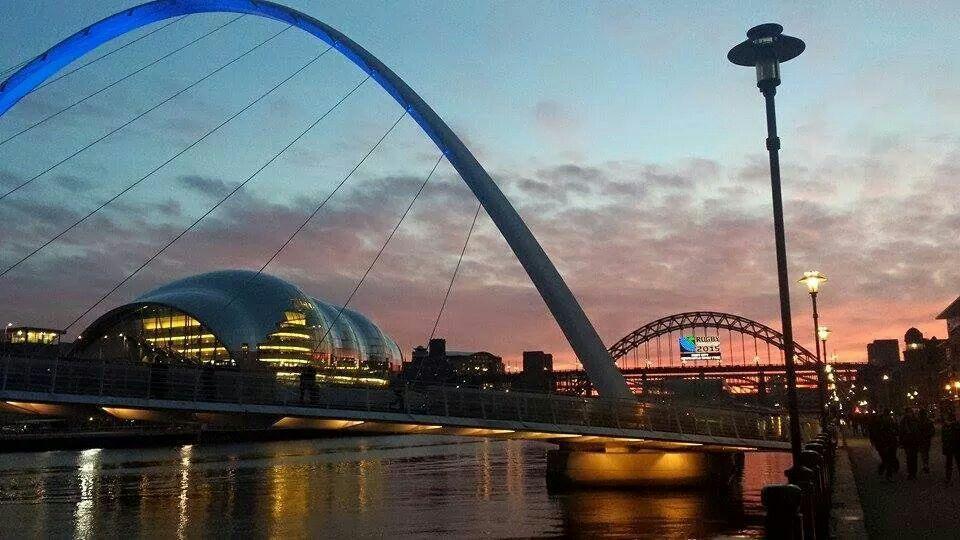 Home Newcastle Upon Tyne England View Of The Bridges At Sun Down Gateshead Millennium Bridge Millennium Bridge Newcastle Upon Tyne