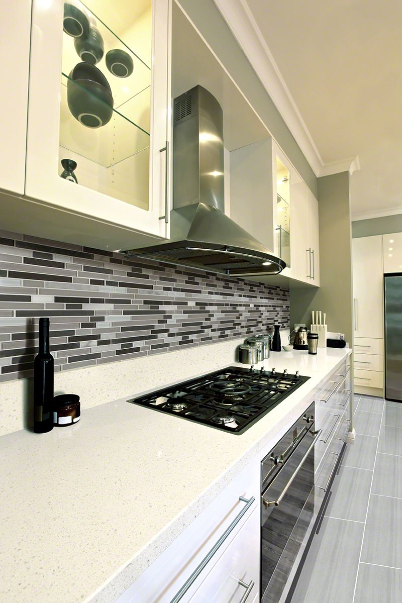 Iced White Quartz White Quartz Countertop Kitchen Room Design
