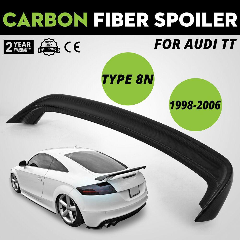 Carbon Fiber Spolier For Audi Tt 8n Single Deck W Double Glue1 8t Window Wing Audi Tt Carbon Fiber Audi