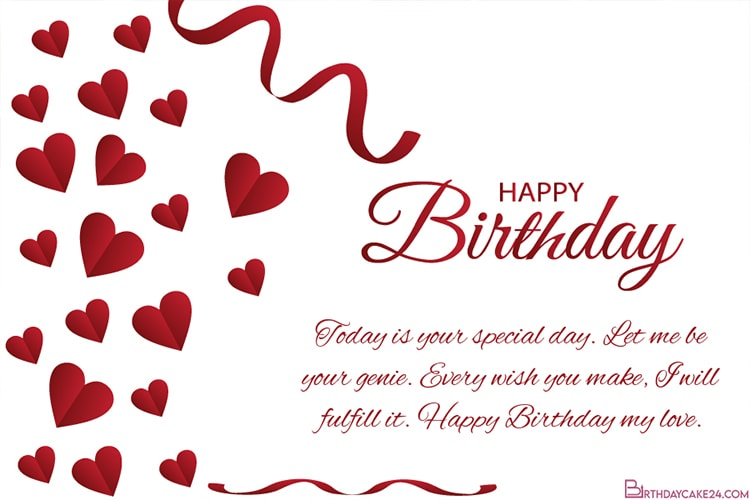 Romantic Love Birthday Wishes Card For Lover Online Romantic Birthday Cards Birthday Cards Images Meaningful Birthday Wishes