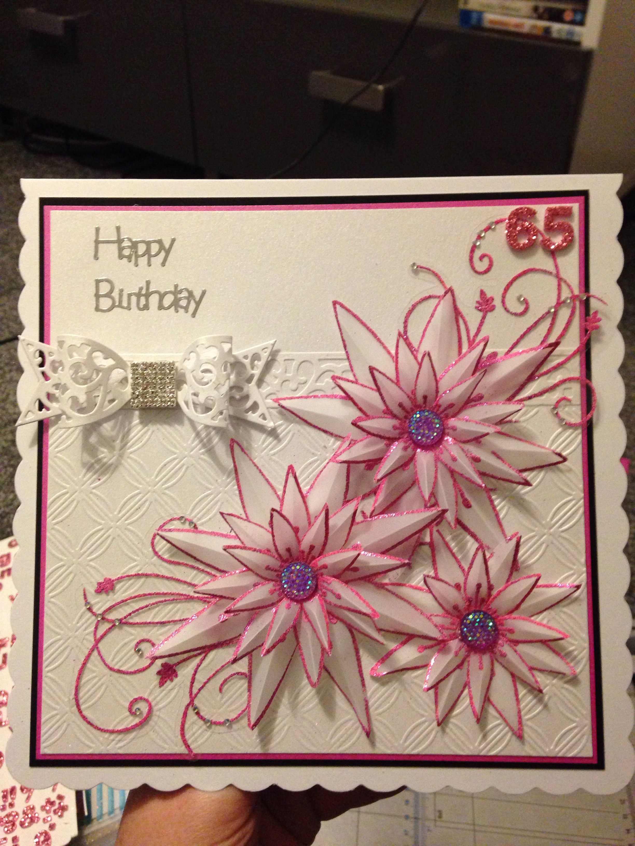 Handmade 65th Birthday Card Chloes Stamps Cards By Chloe
