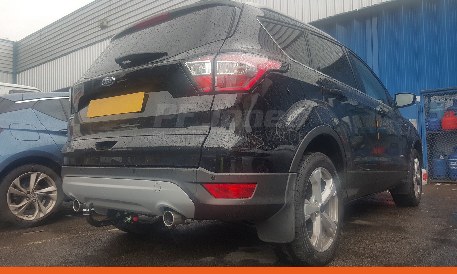 Ford kuga 2017 fitted with a westfalia detachable swan neck towbar
