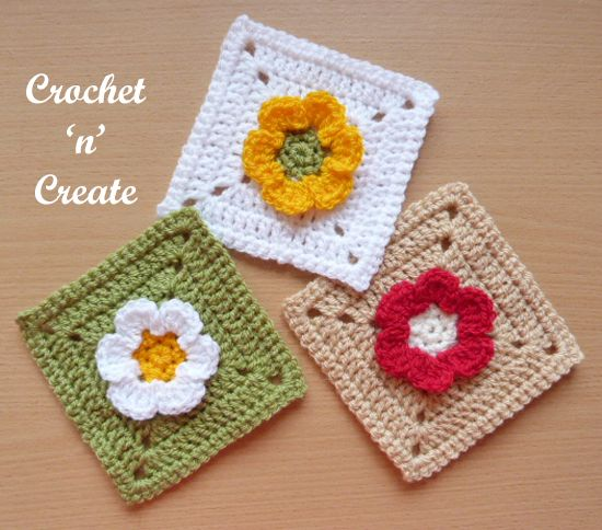 This pretty flower granny square can be used for a multitude of ...