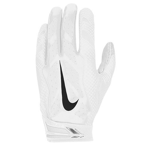 0ece7de8bdc Large all white Football Gloves