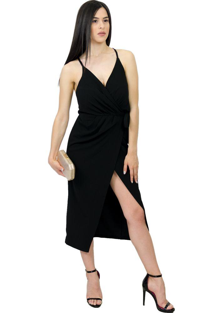 6234b5c1de52 Φόρεμα midi φάκελος κρεπ