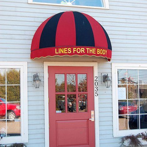 Captivating Commercial Awning, Dome Style, Lines For The Body, Dance Shop, Williston. Otter  CreekDance ...