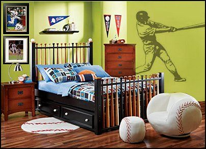 A Decked Out Baseball Themed Room Perfect Haven For Your Chiefs Fan To Fall Asleep