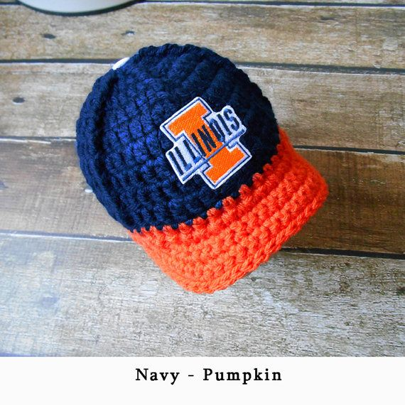6c3db47af41 Baby Boy Coming Home Hat - Crochet Illini Illinois Baby Boy Clothes Newborn  Baby Boy Crochet Hat Baby Boy Hat Take Home Hat Baby Boy Gift