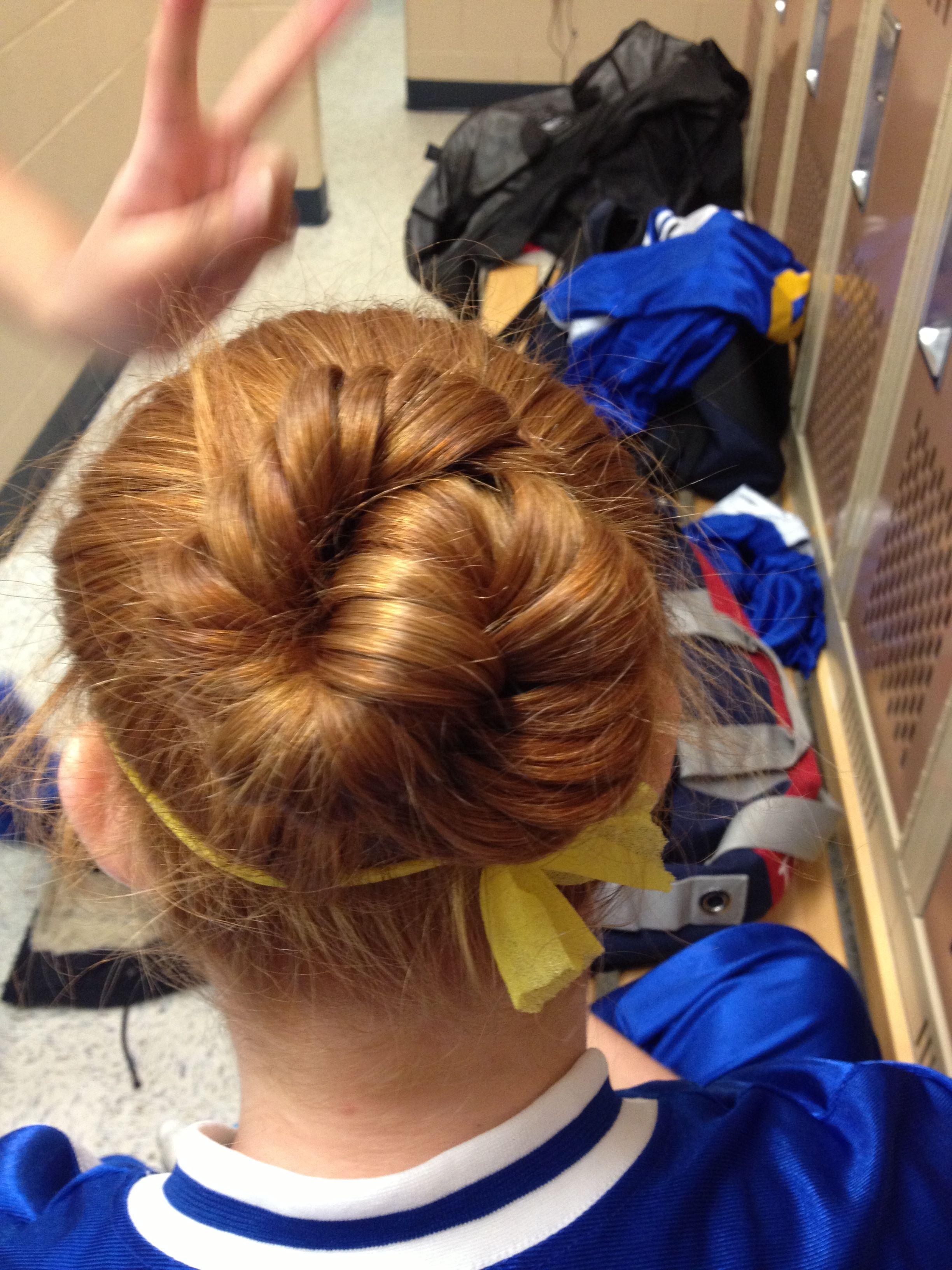 French braid twist bun