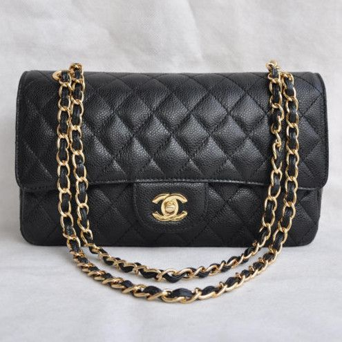 fe6fd27afb6a Chanel 2.55 Series Caviar Leather Flap Bag 1112 Black Golden - Dobestbuy  Chanel USA Online Shop - Cheap Chanel Handbags USA Online Sale,Get 79%  Discount Off ...