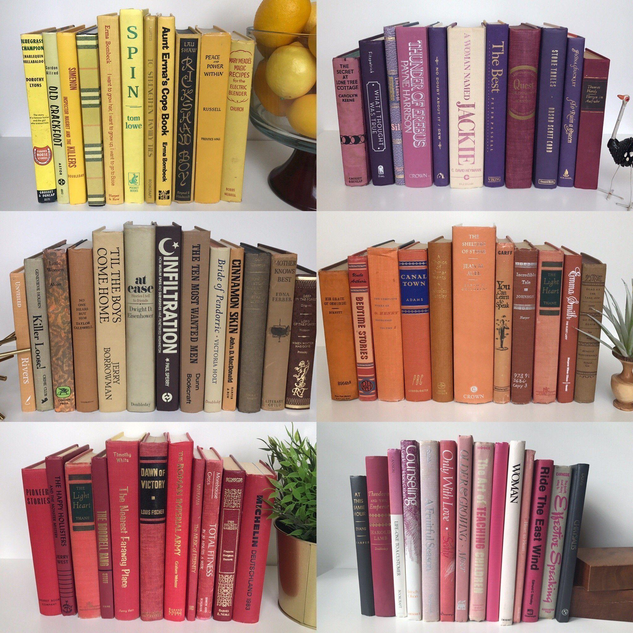 vintage decorative books used