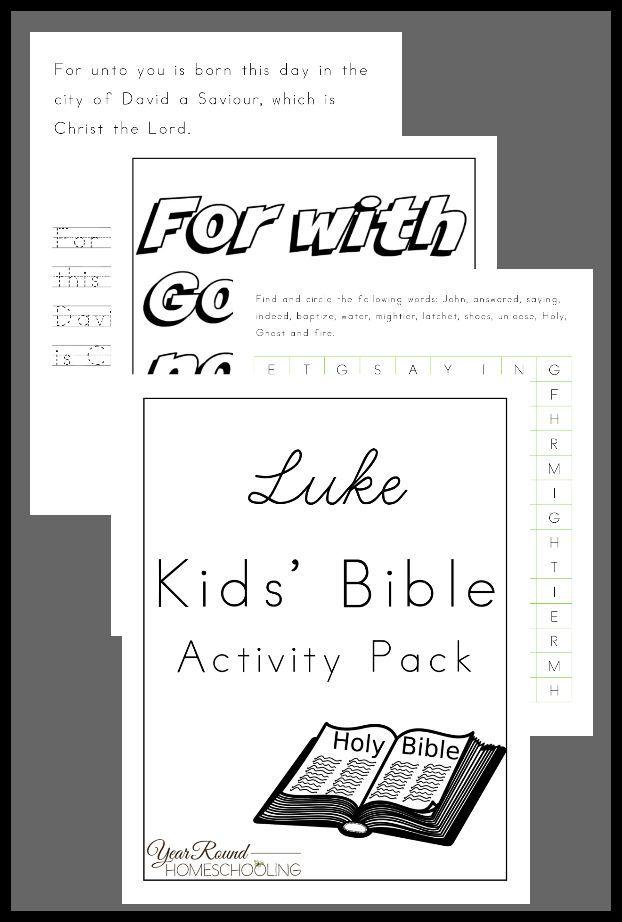 Luke Kids\' Bible Activity Pack