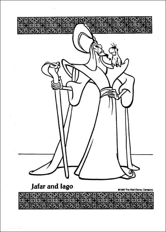 Print Aladdin kleurplaat | Coloring Pages * Disney | Pinterest