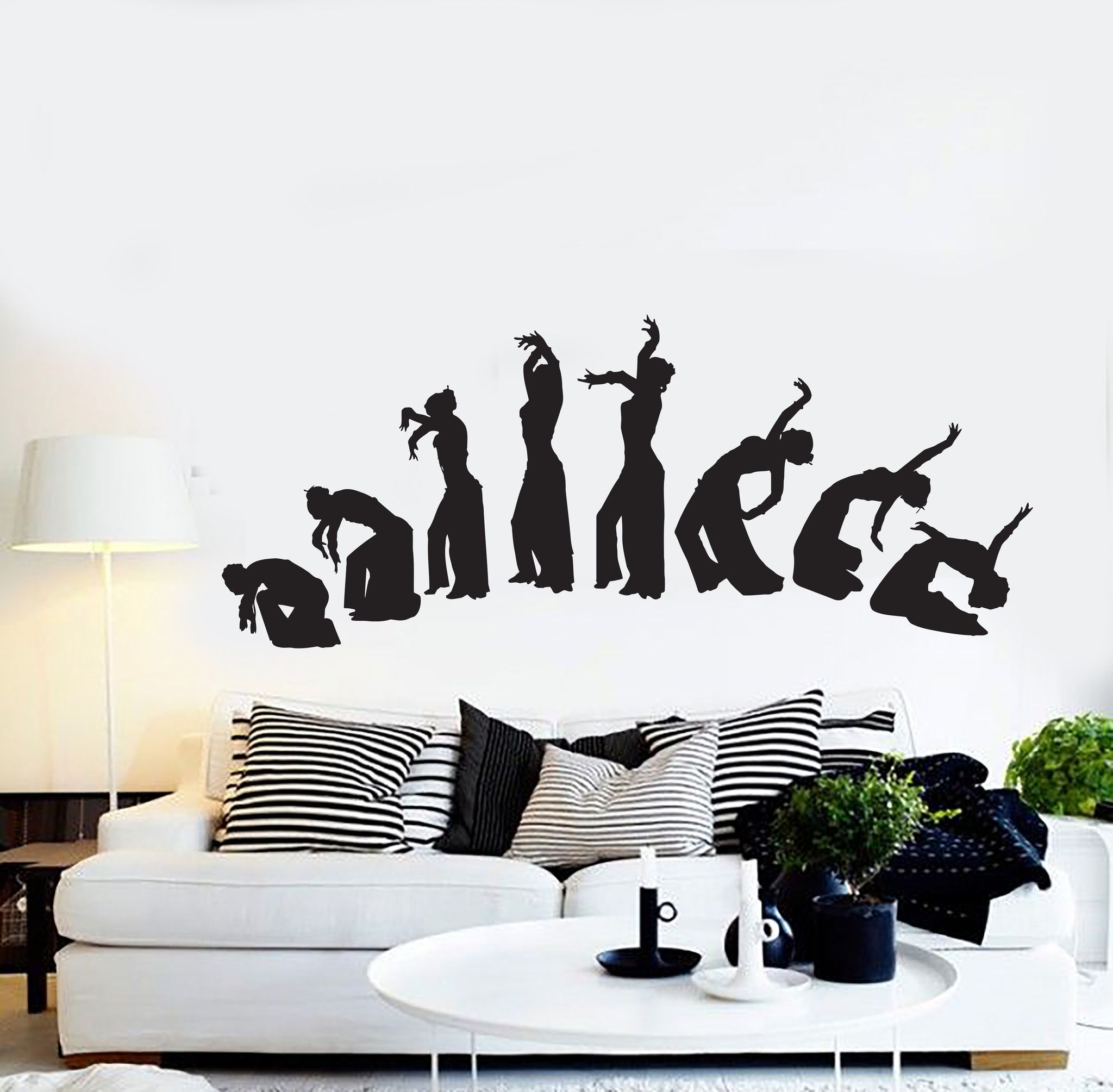 Vinyl Wall Decal Belly Dance Dancing Girl Woman Stickers Mural - Custom vinyl wall decals dance
