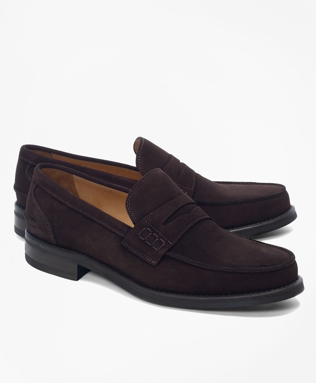 f2c39d9dbc0 Brooks Brothers Sporty Suede Penny Loafers