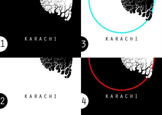 Map Of Asia Karachi.Karachi Map World Map Asia Map Pakistan Map Black And White Map