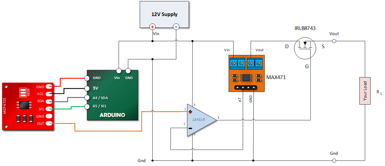 Arduino constant current power supp;y henry's bench electronic