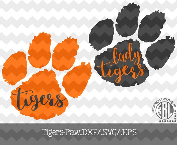 Print use Paw Files with (.DXF/.SVG/.EPS)  Tigers Decal for