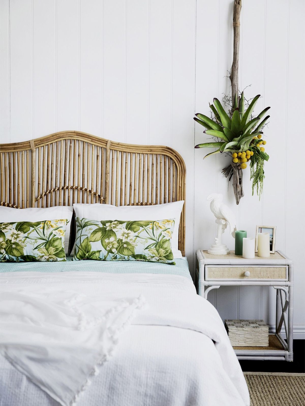 Five Ways To Elevate Your Tropical Style And How To Get The Look Of Each Coco Kelley Bedroom Design Above Bed Decor Bedroom Decor