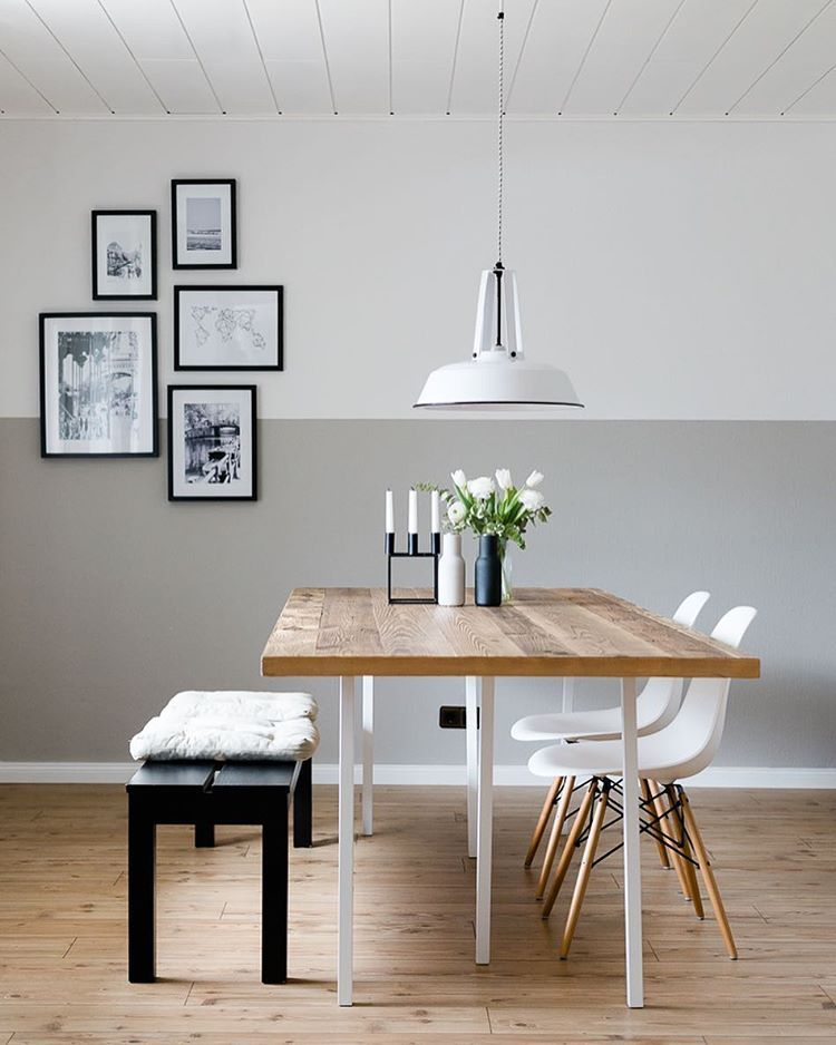 grau halbhoch schwarze akzente home pinterest grau schwarzer und esszimmer. Black Bedroom Furniture Sets. Home Design Ideas