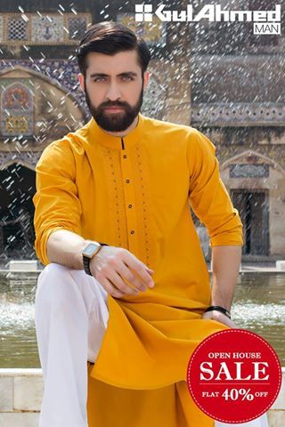 1c70d31e6a Gul Ahmed Men Wear Eid Dresses 2016 (5)   Suits in 2019   Mens ...