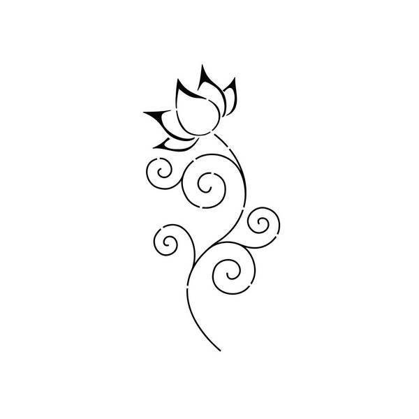 Pochoir fleur de lotus 2 tatouages pinterest tattoo - Fleur tatouage dessin ...