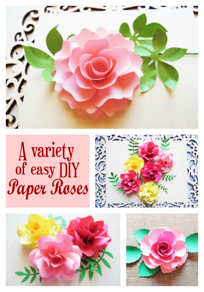how to make paper roses  printable flower pattern