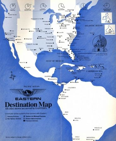 Eastern Airlines Timetables, Route Maps, and History ... on northwest cargo, northwest area map, northwest weather map, northwest parkway map, northwest boulevard map,