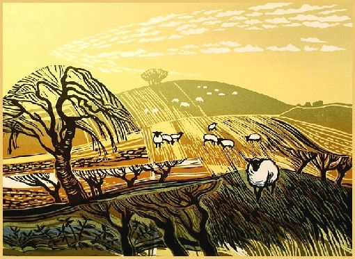 Rob Barnes » Winter Fields with Sheep
