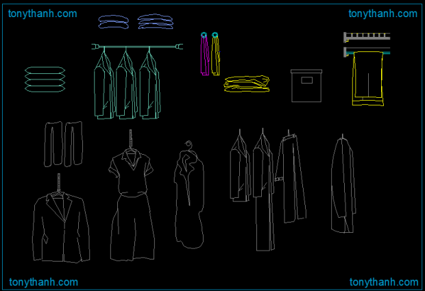 Rivestimento In Pietra Dwg : Clothes hanger autocad drawing clothes hanging cad block sample