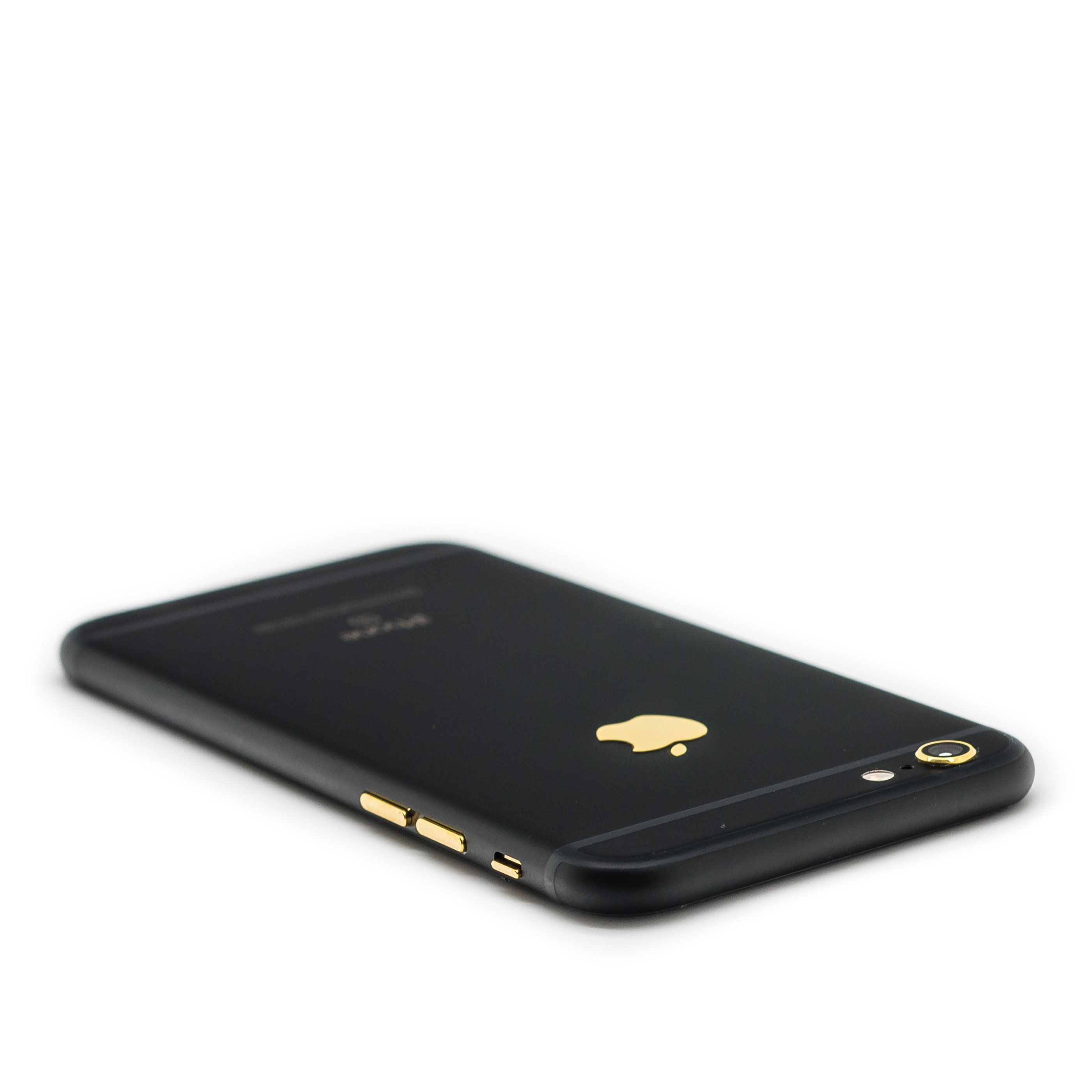 HautePhones specializes in providing the world's most amazing and unique iPhones, here we present you the newest version, iPhone 6s customized in black matte with gold accents (logo and buttons).       Brand new custom iPhone 6sMemory size of choice1 year HautePhones warrantyGSM Factory Unlocked (worldwide)Handheld will be delivered in a custom luxury wooden box